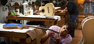 Guitar making course, Totnes, Devon